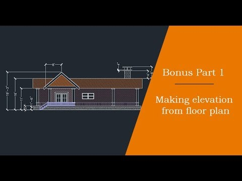 Making elevation view from floor plan: Bonus part 1 of 2