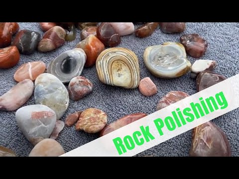 Rocks Polished BEFORE and AFTER.
