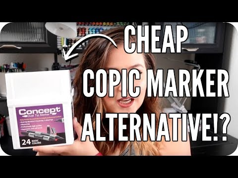 Copic Marker Alternative? Concept Dual-Tip Marker Review