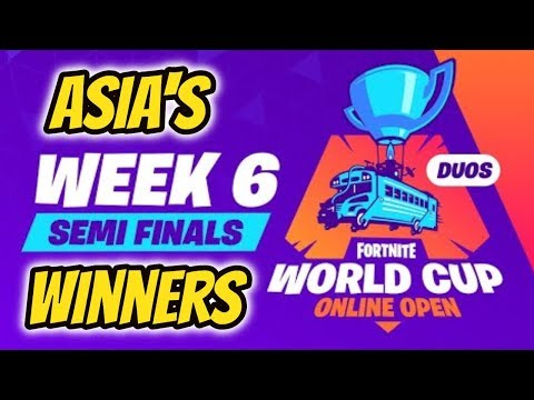 FORNTITE WORLD CUP* WEEK 6 ASIA'S WINNERS SEMI-FINALS! (KGA SexyBoy