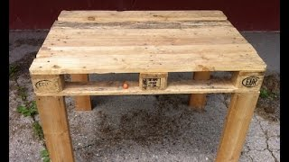 Pallet Table (easy To Make Diy)