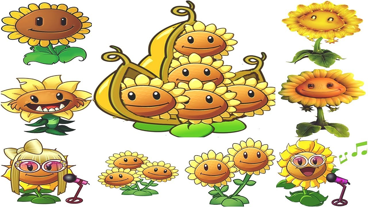All Sunflower in PvZ -PvZ 2-PvZGW-PvZGW 2: Gameplay 2017