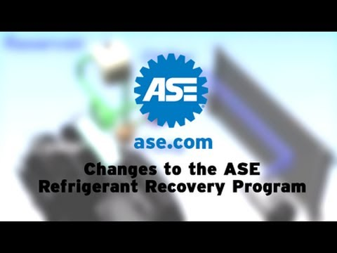 Changes to the ase refrigerant recovery program youtube sciox Image collections