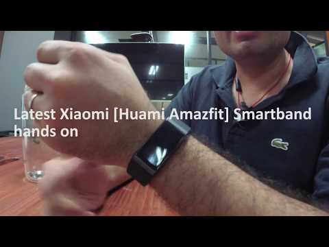 Xiaomi Huami AMAZFIT Band - Hands On 米动手环color ips touchscreen, 50m waterproof