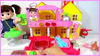 Toy Restaurant Kitchen for Kids | Unboxing Pretend Play | itsplaytime612