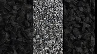 black crushed glass chips