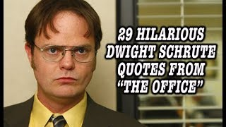 "29 Hilarious Dwight Schrute Quotes From ""The Office"""
