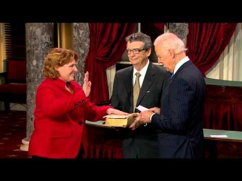 Swearing in of Senator Heidi Heitkamp (D-N.D.)