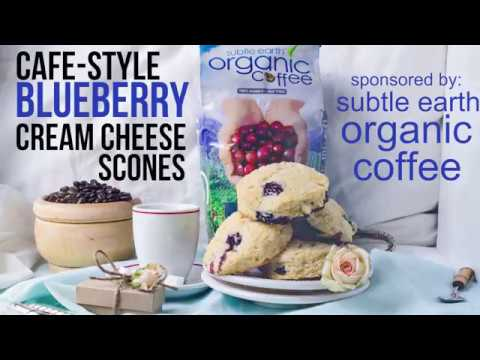 Cafe Style Blueberry Cream Cheese Scones