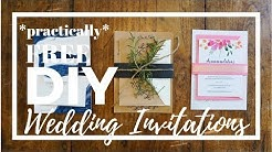 FREE DIY Wedding Invitations (just add paper!)