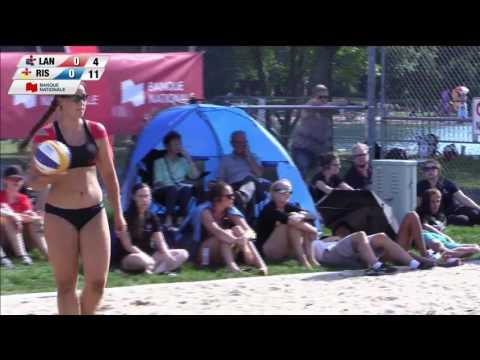Jeux du Quebec 2016 Volleyball de plage 2016 07 24 Finale Or Femmes Lanaudiere RiveSud