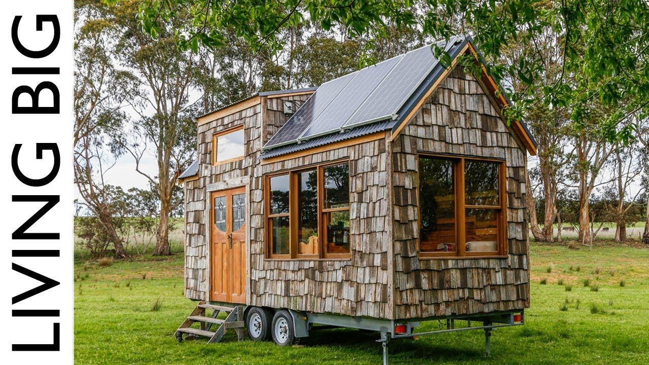 Super Affordable Off Grid Tiny House Built With Old Fence