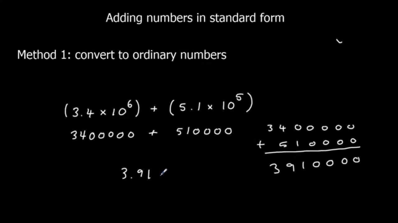Adding numbers in standard form youtube falaconquin