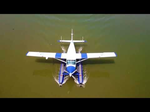 Cinnamon Air - Kandy Polgolla take off on sea plane.