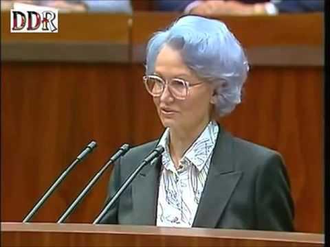Margot Honecker - Rede Berlin 1989
