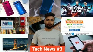 Tach News #3 - PUBG vs SURVIVAL GAME, MI MIX 3 5g phone, youtube ios updated