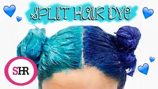 One of Sophie Hannah Richardson's most viewed videos: How To: SPLIT HAIR DYE in Blue & Turquoise!