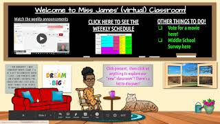How to add items and links to a virtual classroom