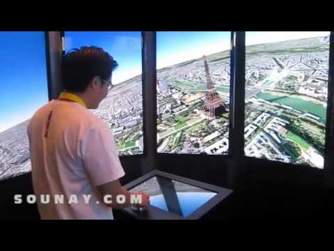 ON-OFF Event Jakarta 2011 @America Google Earth 3D Map Technology played by Tai Tran.FLV