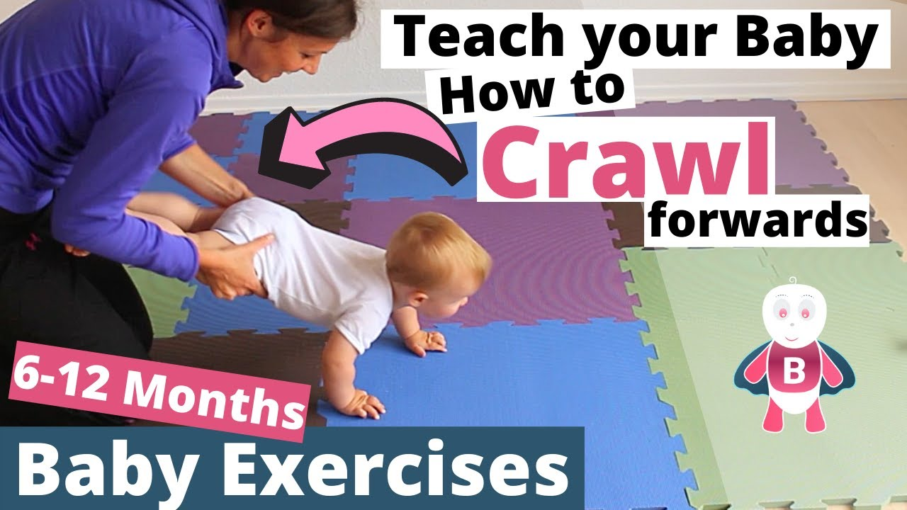 how to teach baby to crawl 👶💪❤ baby exercises #6-9 months