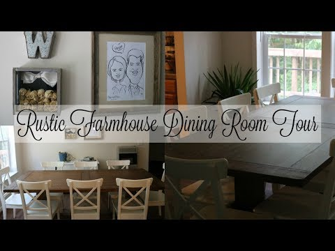 Rustic Farmhouse Dining Room Tour || Home Decor