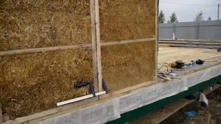 Монтаж стен. Строительство экологического дома из соломенных панелей. Часть 2(, 2016-05-18T08:18:11.000Z)