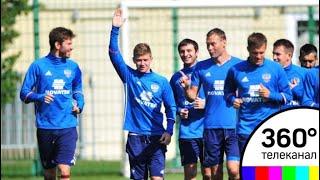 Тренировка сборной России началась на стадионе