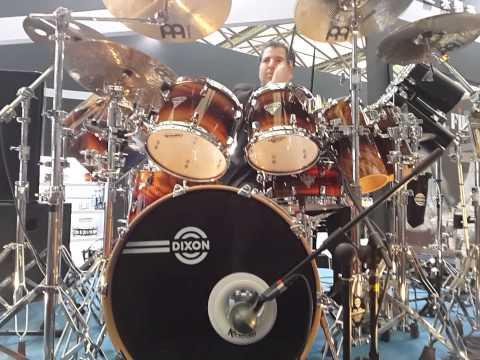 Drum testing at shanghai music fair