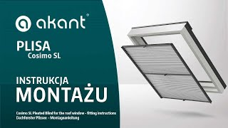 Plisa Cosimo SL Na Okna Dachowe - Instrukcja Montażu