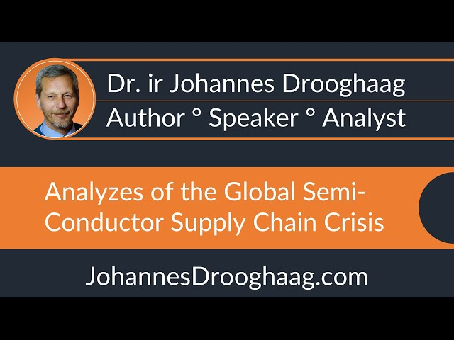 Dr. ir Johannes Drooghaag - Analyst - Global Semi-conductor Supply Chain Crisis