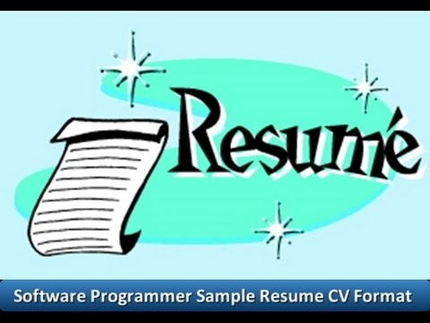 Software Programmer Sample Resume CV Format - YouTube - software programmer sample resume
