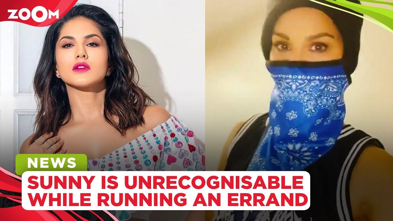 Sunny Leone looks unrecognisable as she runs an errand for her husband Daniel Weber