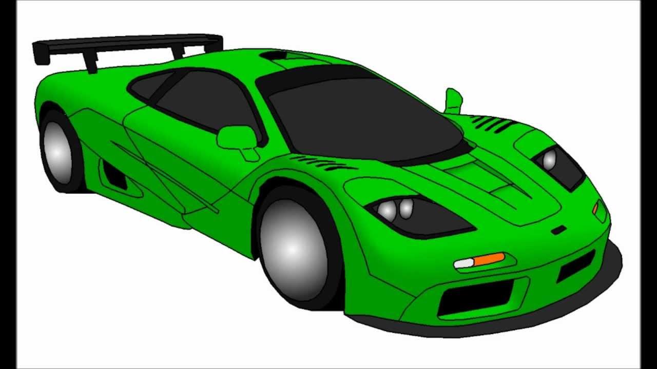 Drawing McLaren F1 Cartoon - YouTube
