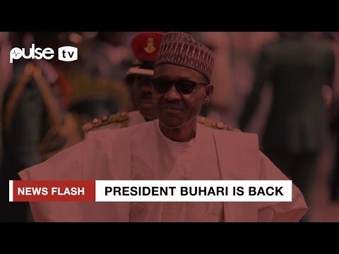 President Buhari Arrives Nigeria Via Nigeria Air Force Base Kaduna Pulse TV