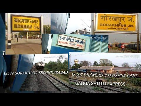 LUCKNOW to GORAKHPUR journey 15070 intercity express