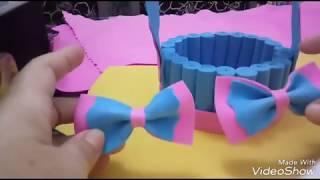 DIY: cestinha de EVA com CD