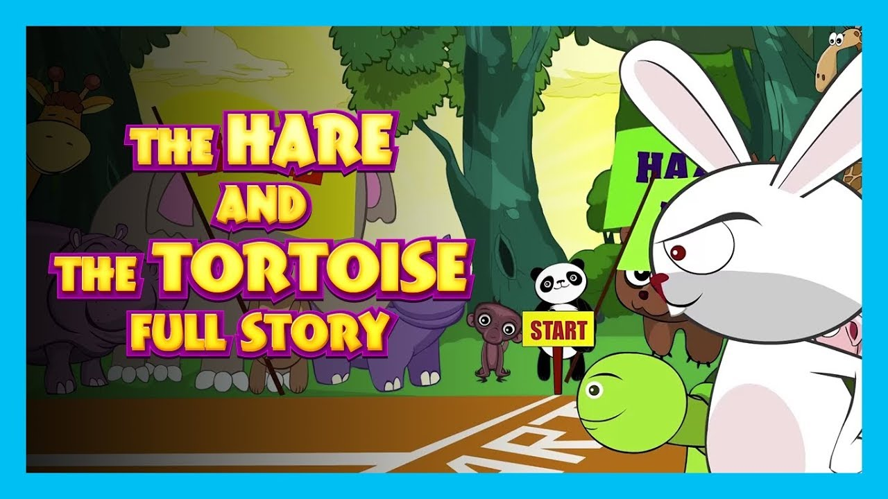 The Hare And The Tortoise Full Story In English Kids Hut