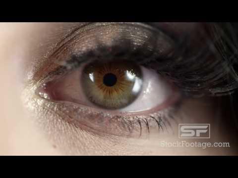 Macro view of woman's eye