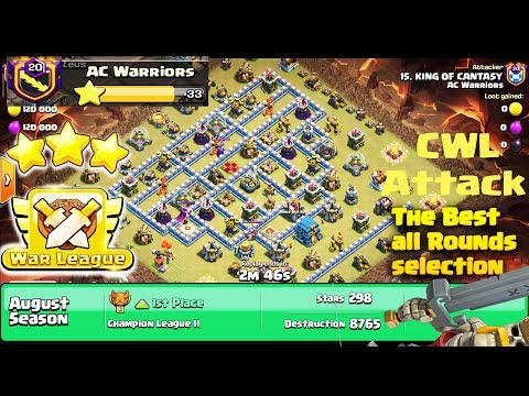 The Final CWL 3 Stars Attack - Clan War League TH12 Attack the Best in Clash of Clans
