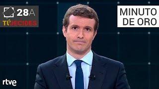 Minuto de oro de Pablo Casado   Debate en RTVE