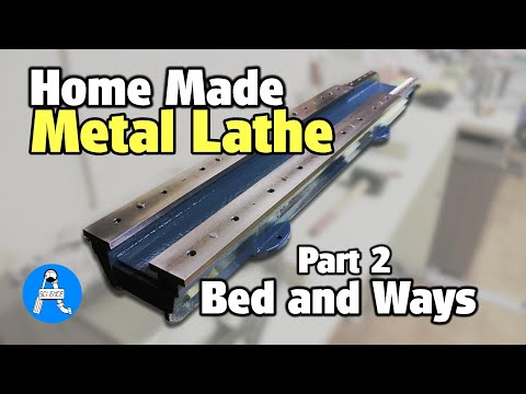 Metal lathe home made - the bed and ways - part 2