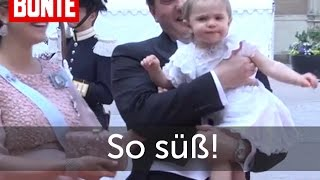 Leonore von Schweden: Die süßeste Szene der Hochzeit! - BUNTE TV