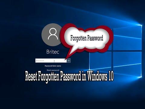forgot my password to my hp laptop windows 10