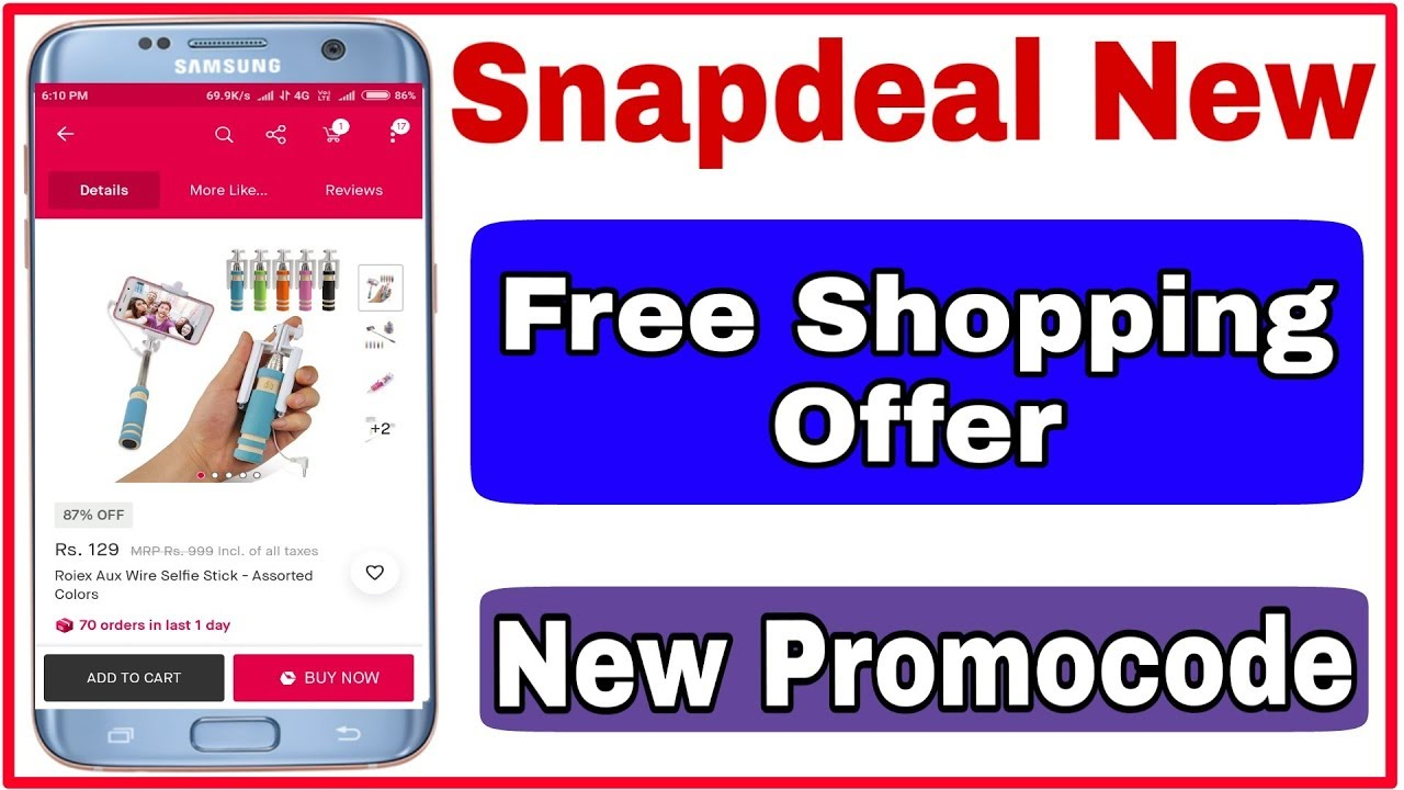 093a69e5f24 Snapdeal New Free Shopping Promocode - YouTube