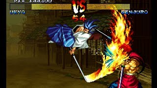 Samurai Shodown III: Ukyo playthrough / lvl-4 【60fps】