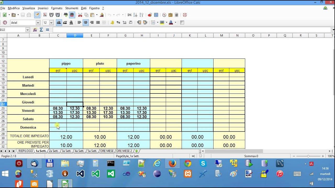 Calendario Presenze Excel.Video Tutorial Di Foglio Presenze