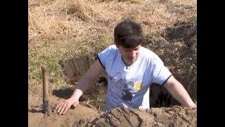 проводим эксперимент: сколько времени необходимо, чтобы вырыть окоп саперной лопатой
