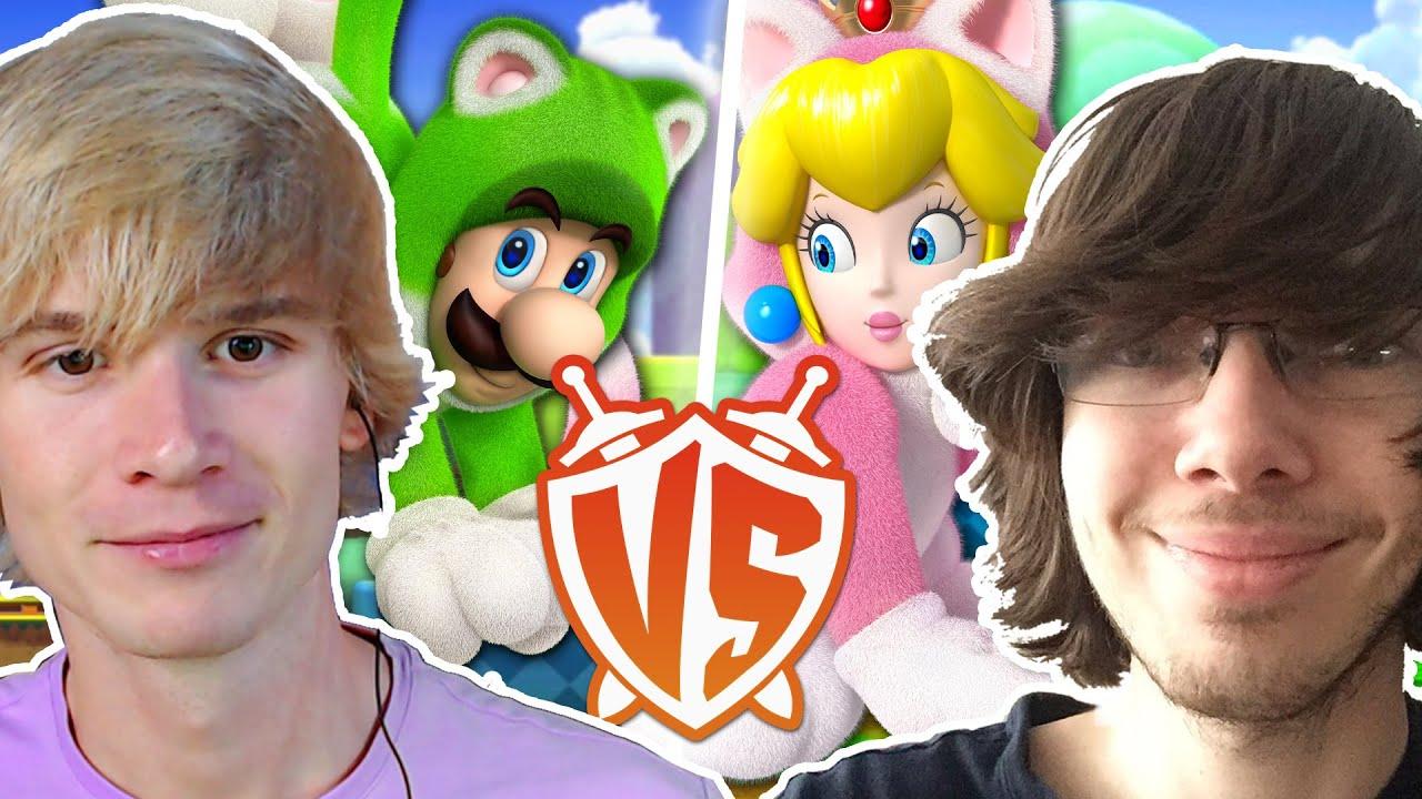 Luigi VS Peach in Mario 3D World Versus vs Yoshiller