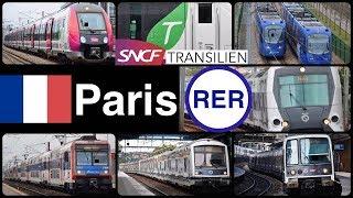 Paris RER & Transilien [39 Departure & Pass videos!]