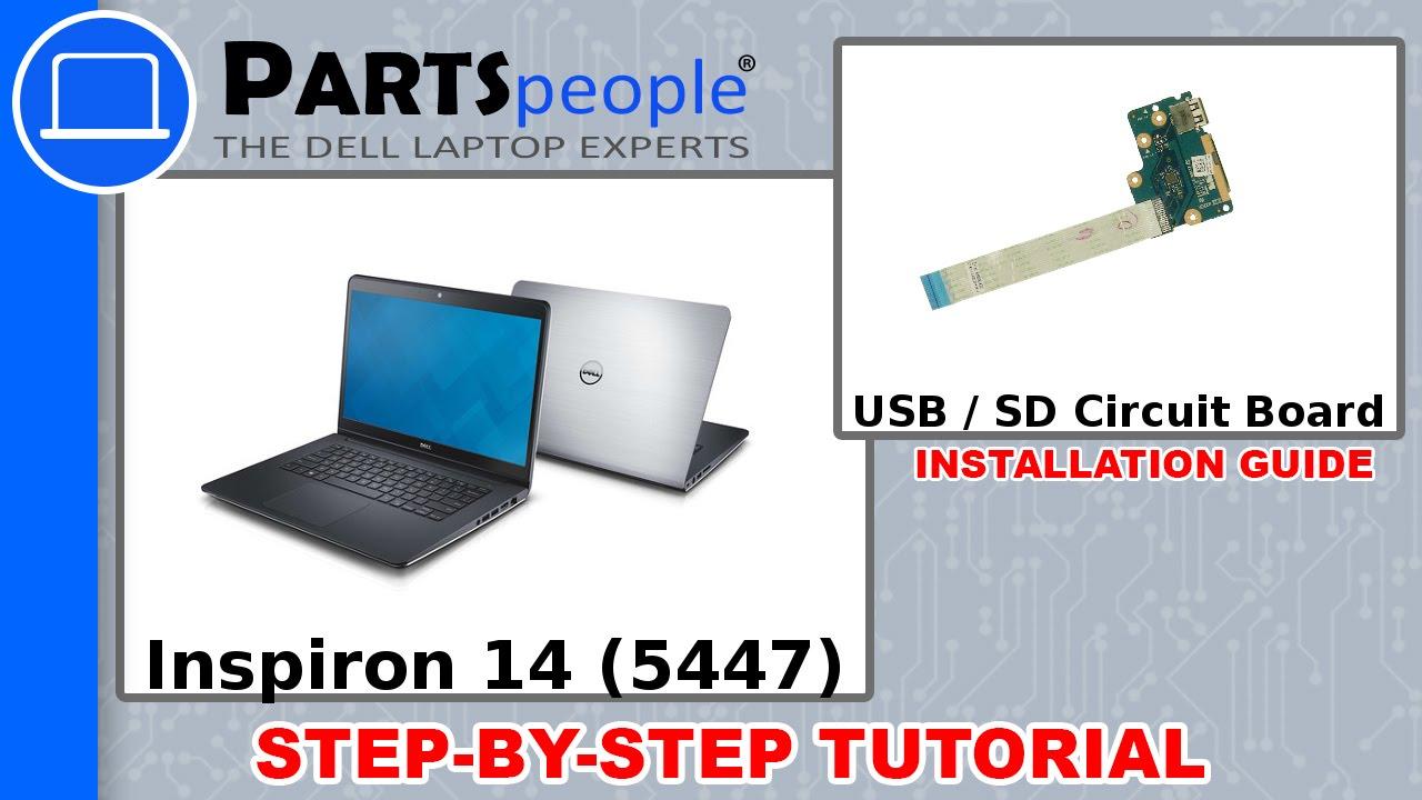 Dell Inspiron 14-5447 (P49G-001) USB / SD Circuit Board